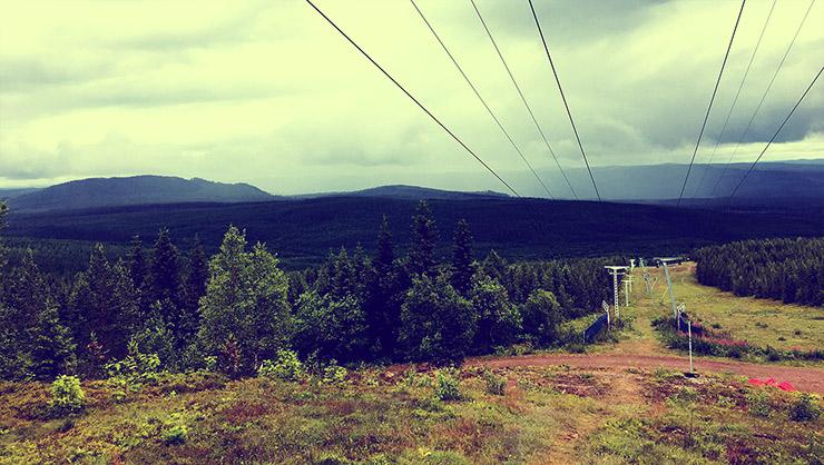 Grönklitt Toppstugan utsikt